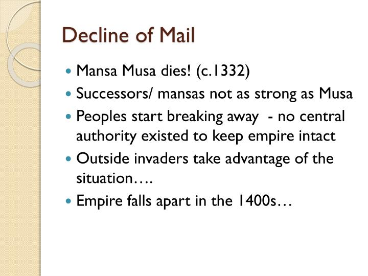 Decline of Mail