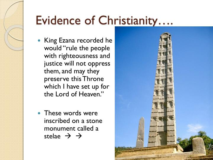 Evidence of Christianity….