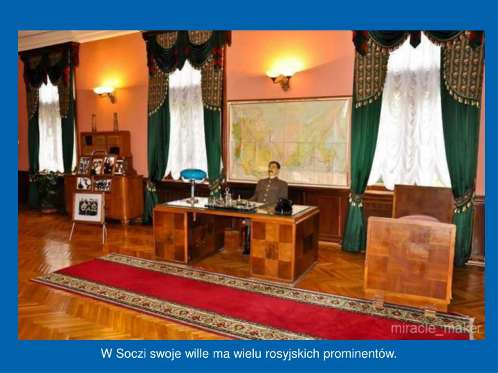 W Soczi swoje wille ma wielu rosyjskich prominentów.