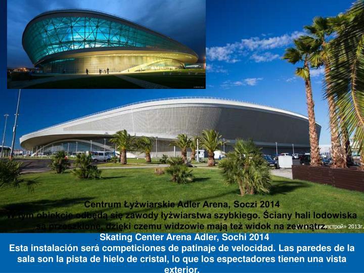 Centrum Łyżwiarskie Adler Arena, Soczi 2014