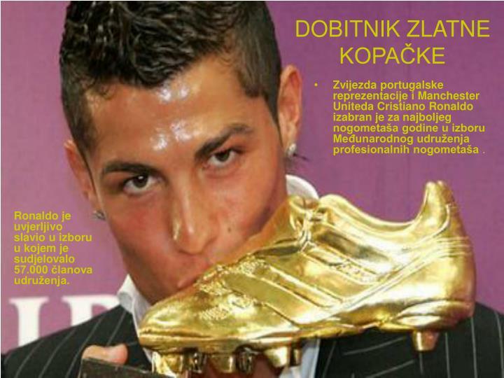 Ronaldo je uvjerljivo slavio u izboru u kojem je sudjelovalo 57.000 članova udruženja.
