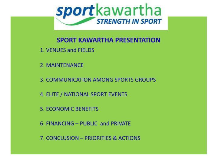 SPORT KAWARTHA PRESENTATION