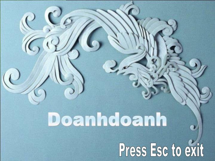Press Esc to exit