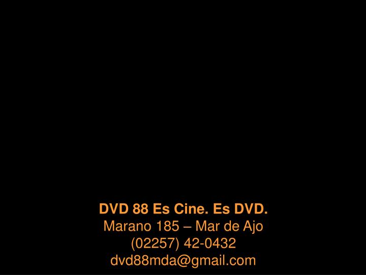 DVD 88 Es Cine. Es DVD.