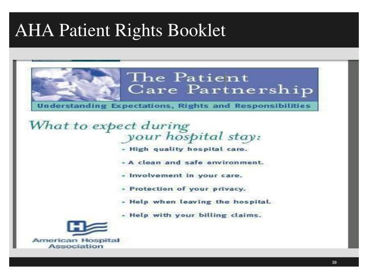 AHA Patient Rights Booklet