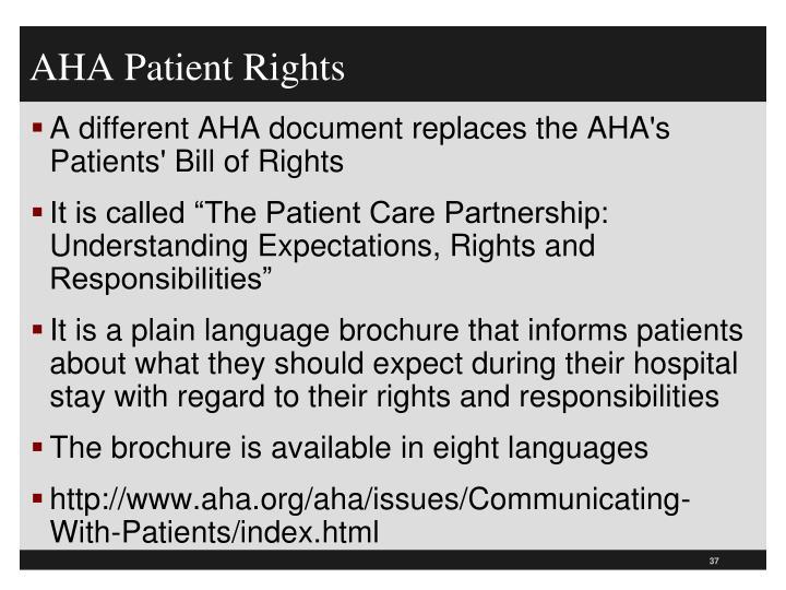 AHA Patient Rights