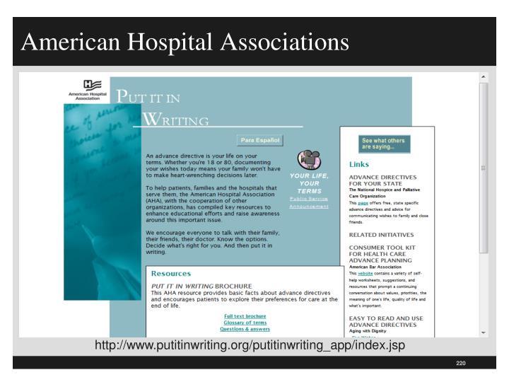 American Hospital Associations