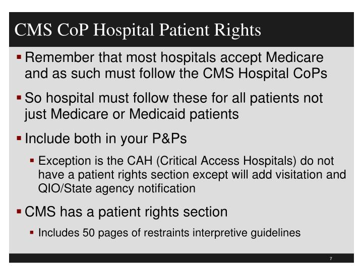 CMS CoP Hospital Patient Rights