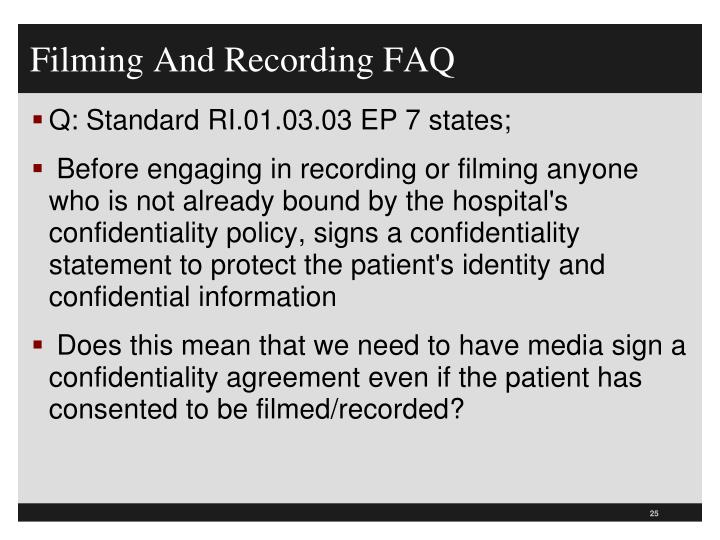Filming And Recording FAQ