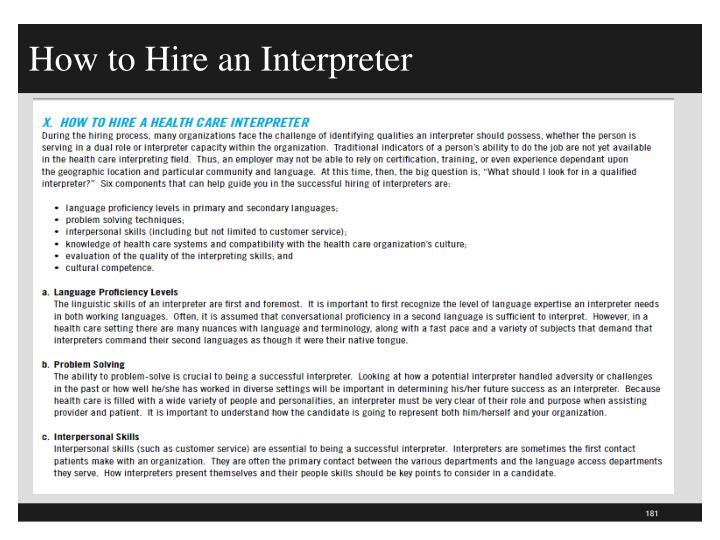 How to Hire an Interpreter
