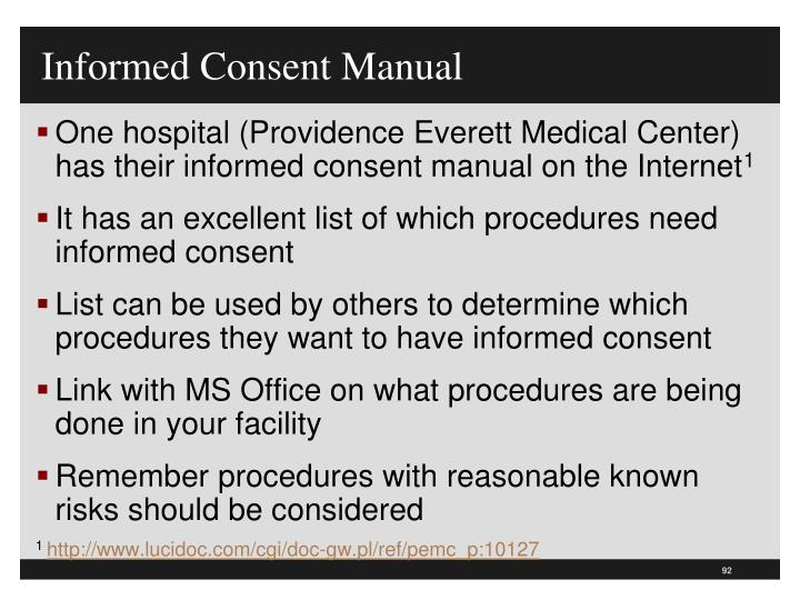 Informed Consent Manual