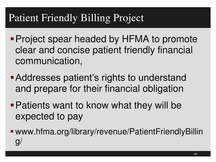 Patient Friendly Billing Project