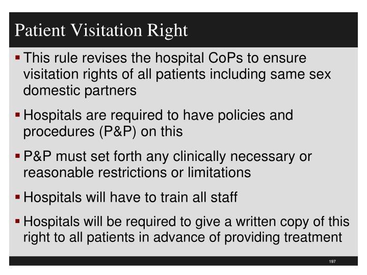 Patient Visitation Right