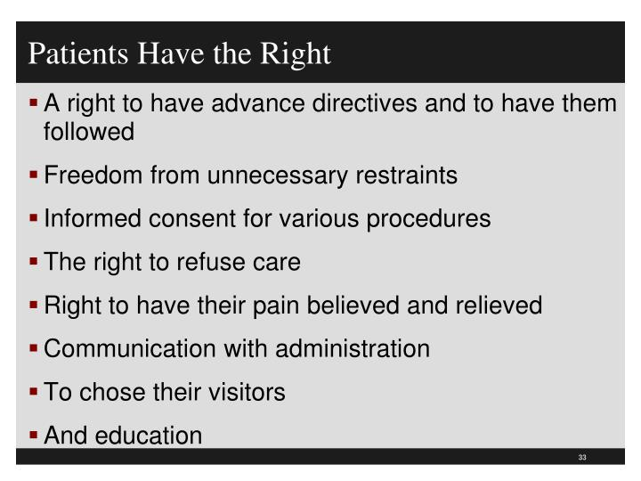 Patients Have the Right