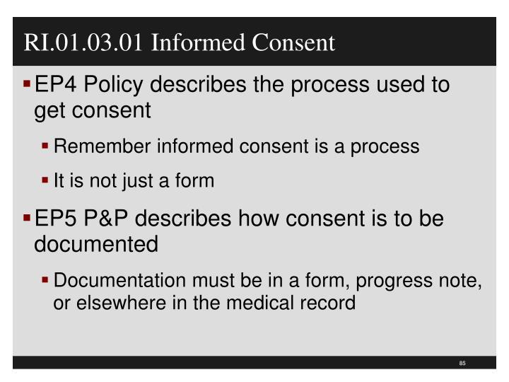 RI.01.03.01 Informed Consent
