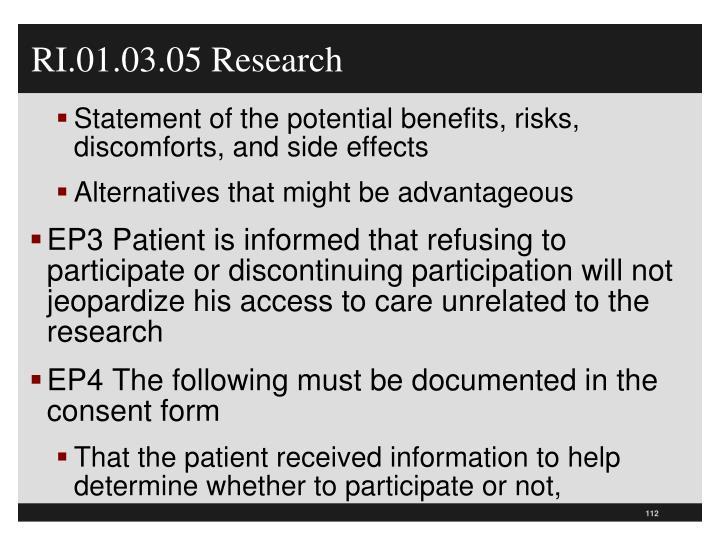 RI.01.03.05 Research