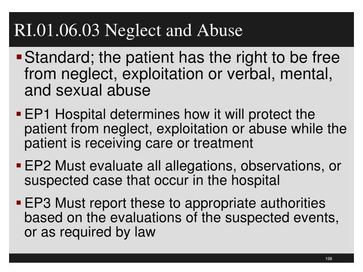 RI.01.06.03 Neglect and Abuse