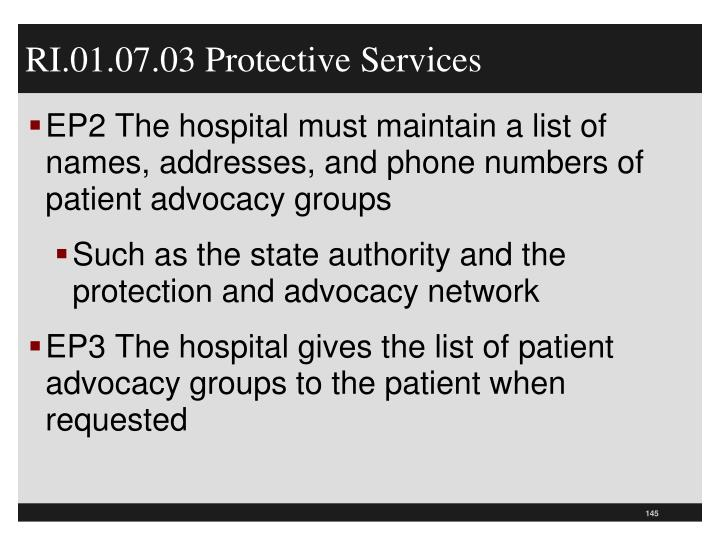 RI.01.07.03 Protective Services