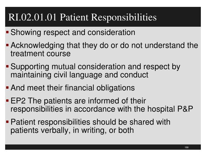 RI.02.01.01 Patient Responsibilities