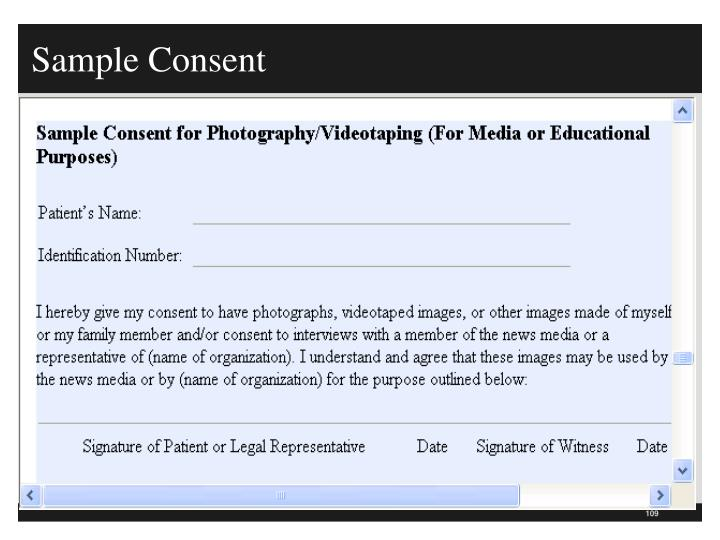 Sample Consent