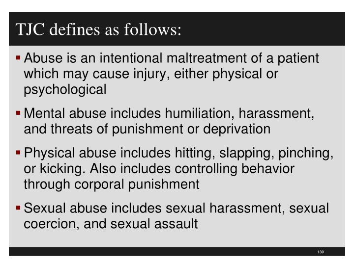 TJC defines as follows: