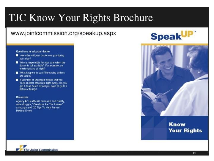 TJC Know Your Rights Brochure