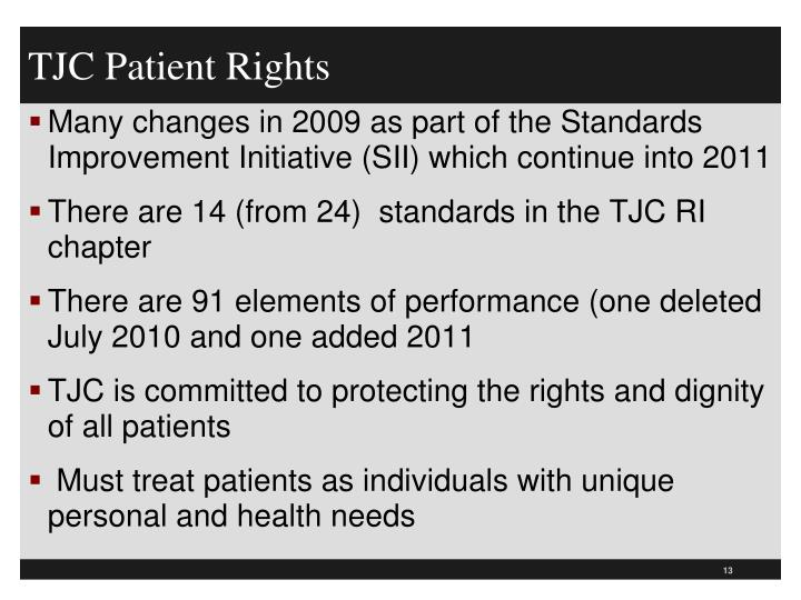 TJC Patient Rights