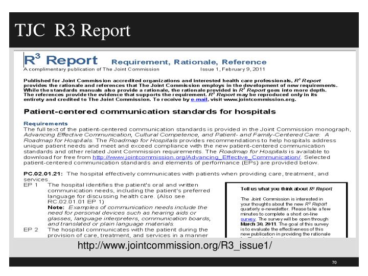TJC  R3 Report
