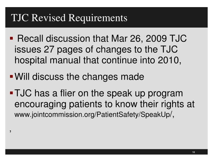TJC Revised Requirements