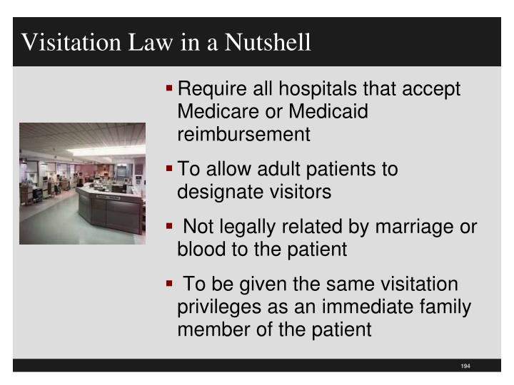 Visitation Law in a Nutshell