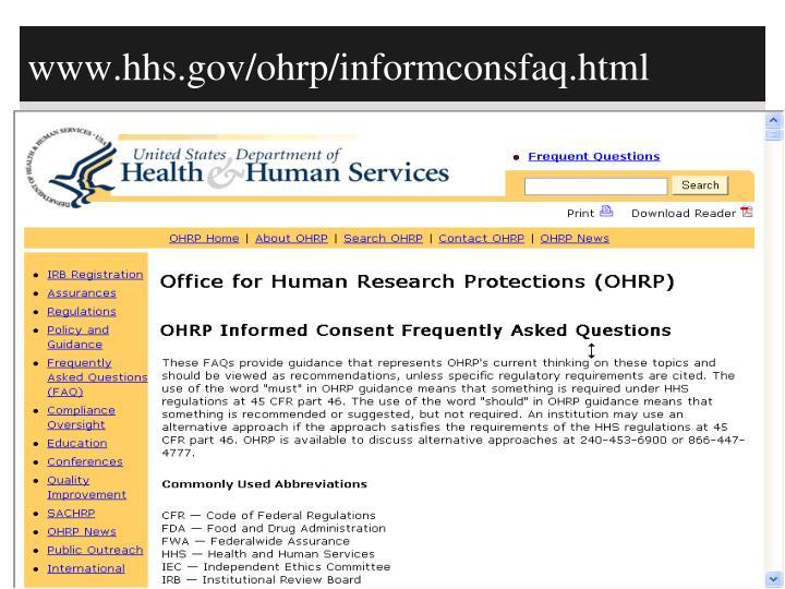 www.hhs.gov/ohrp/informconsfaq.html