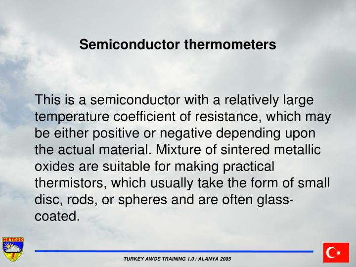 Semiconductor thermometers