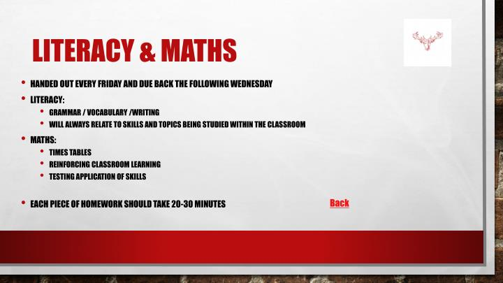 Literacy & Maths