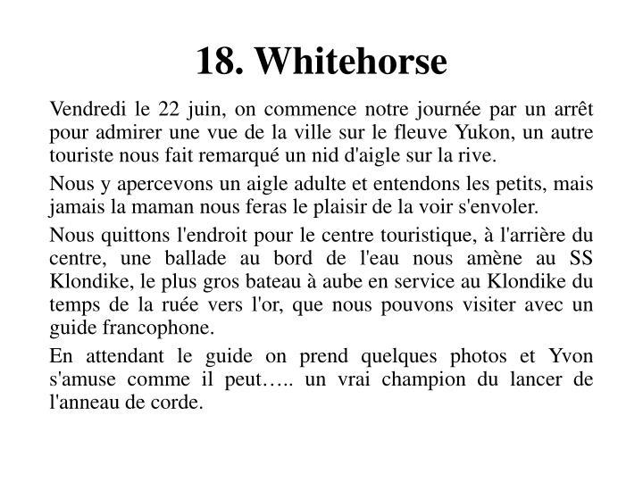 18. Whitehorse