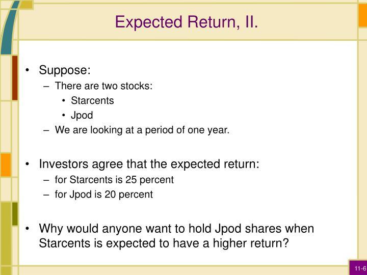 Expected Return, II.