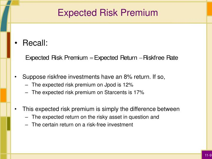 Expected Risk Premium