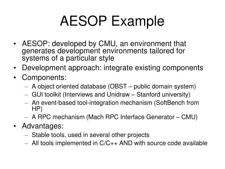 AESOP Example