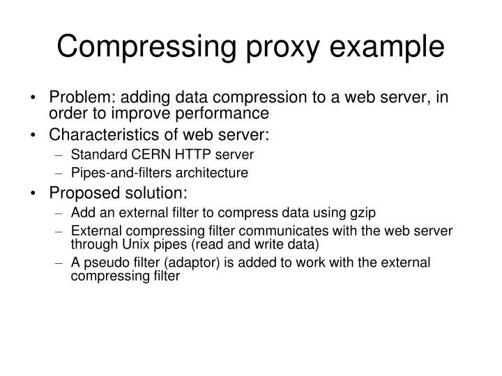 Compressing proxy example