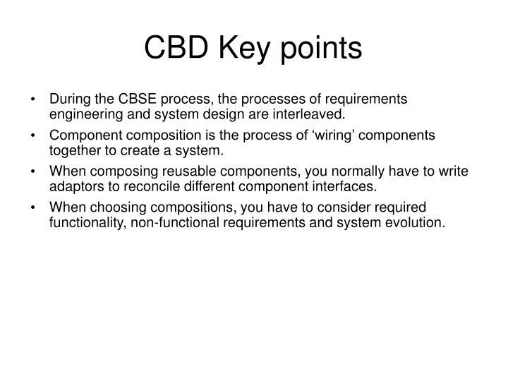 CBD Key points