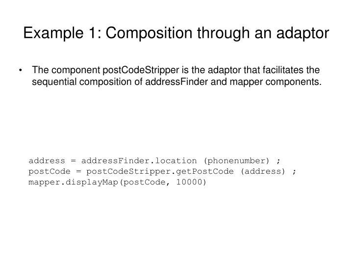 Example 1: Composition through an adaptor
