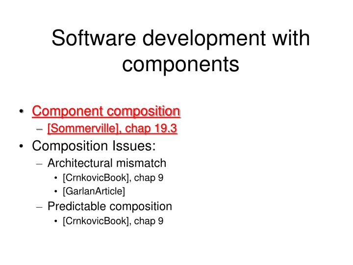 Software development with components1