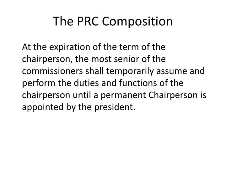 The PRC Composition