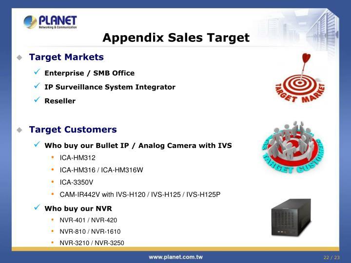 Appendix Sales Target