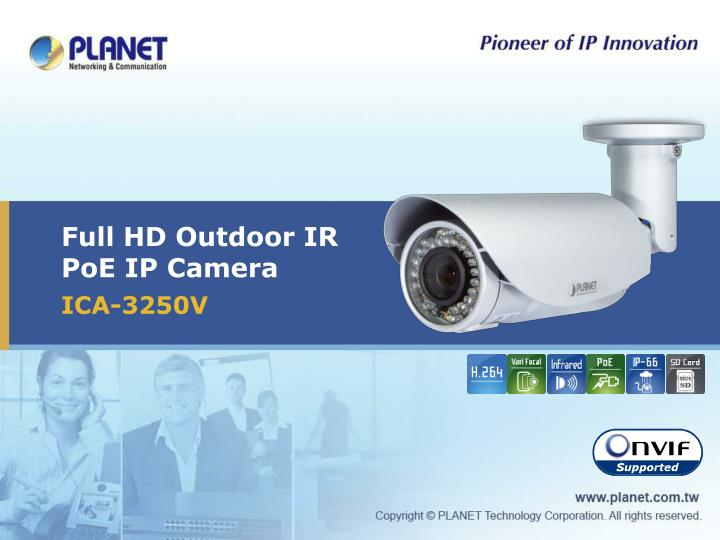 Full hd outdoor ir poe ip camera