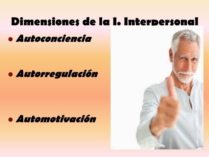 Dimensiones de la I. Interpersonal