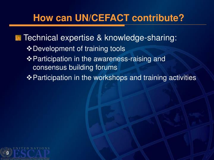 How can UN/CEFACT contribute?