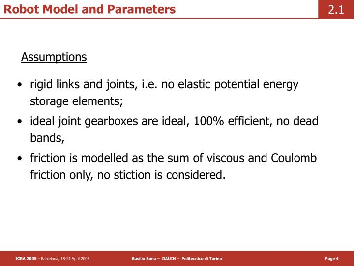 Robot Model and Parameters