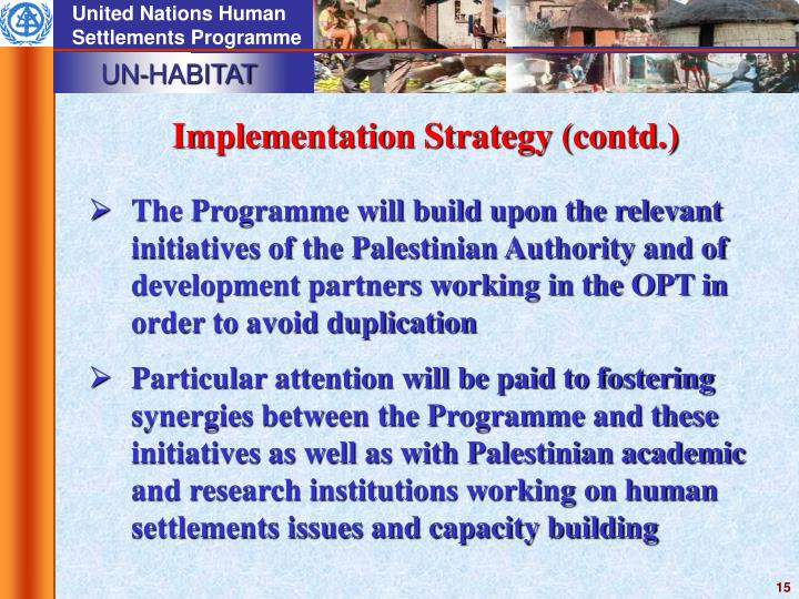 Implementation Strategy (contd.)