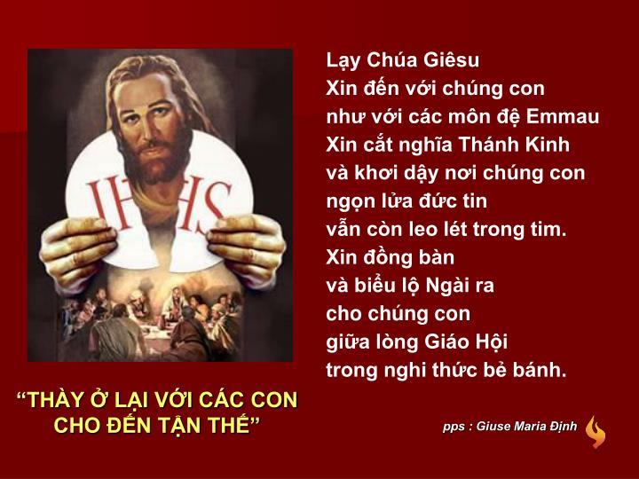 pps : Giuse Maria Định