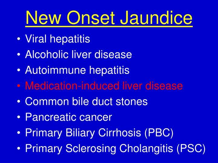 New Onset Jaundice